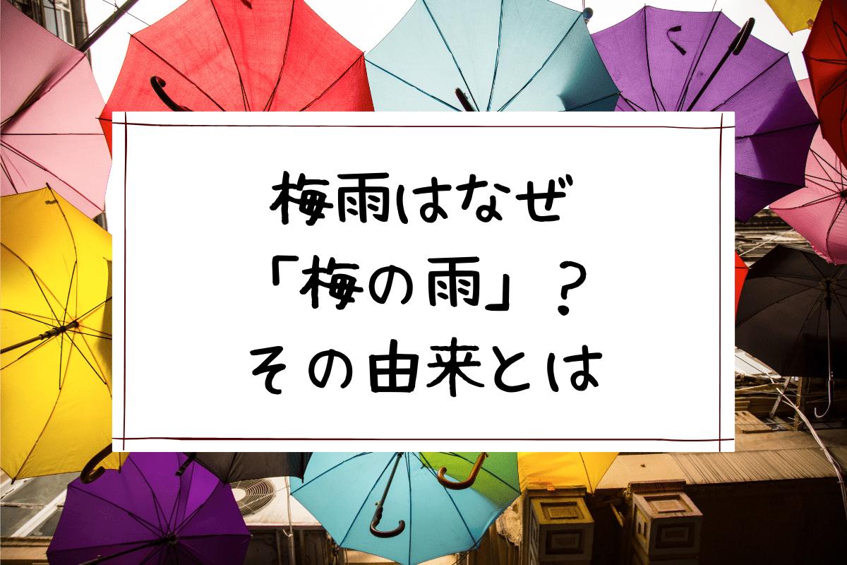 梅雨はなぜ「梅の雨」?